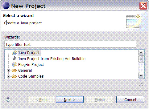 Dialog box with a top portion containing information required for operation and a help icon in the lower left corner