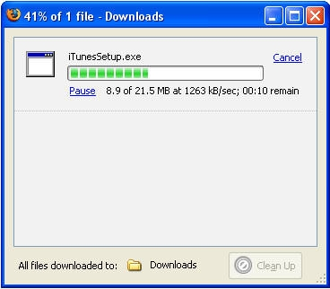 41% of 1 file - Downloads