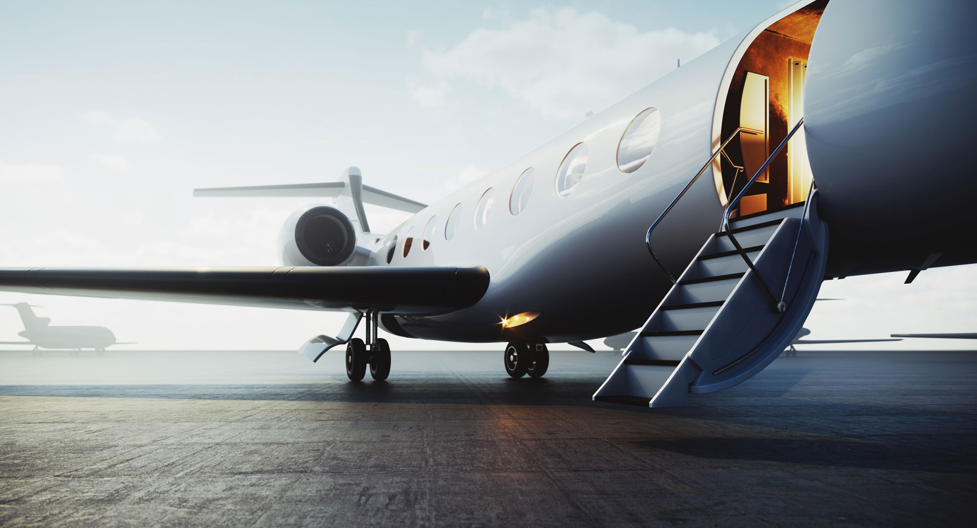 Digital Summit 2020 - image of a business jet
