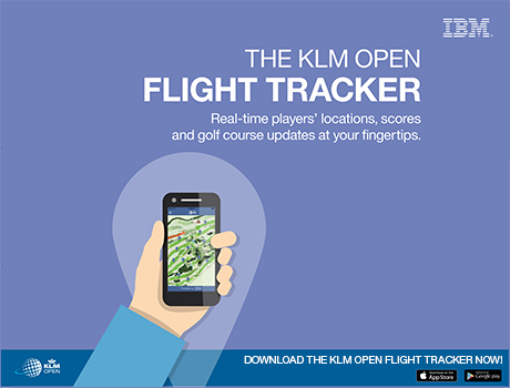 The KLM Open Flight Tracker - Real-time players' locations, scores and golf course updates at your fingerprints.