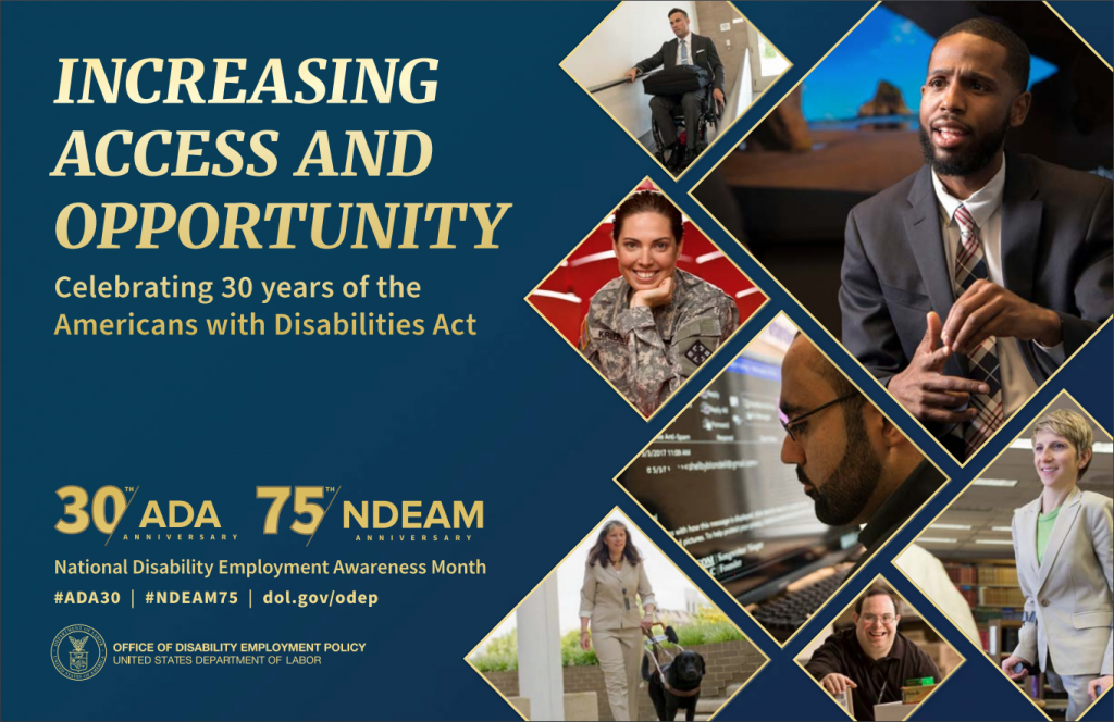2020 National Disability Employment Awareness Month Poster.