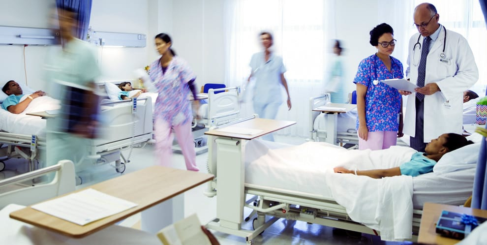 doctors, nurses, and patients in hospital