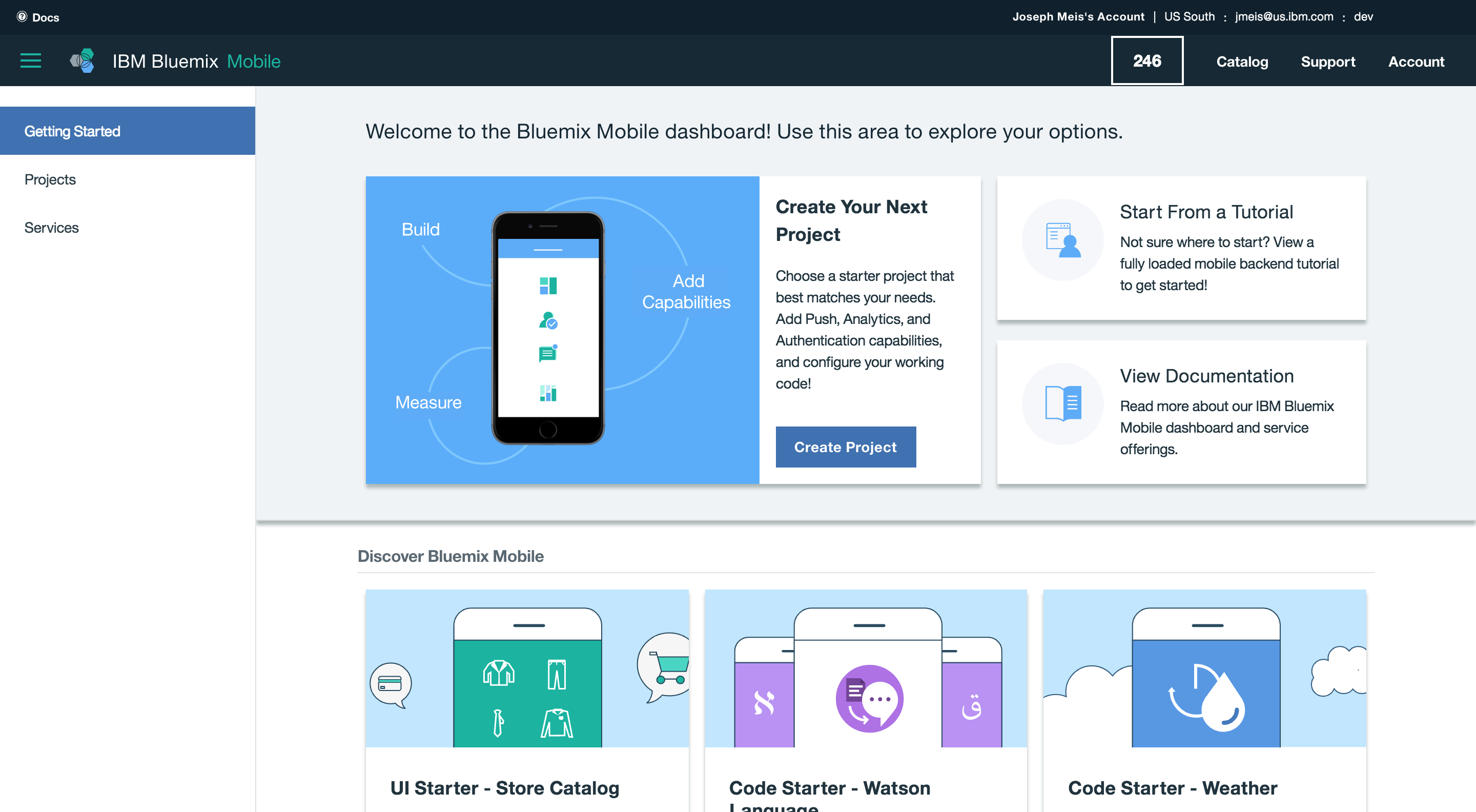 Bluemix Mobile getting-started