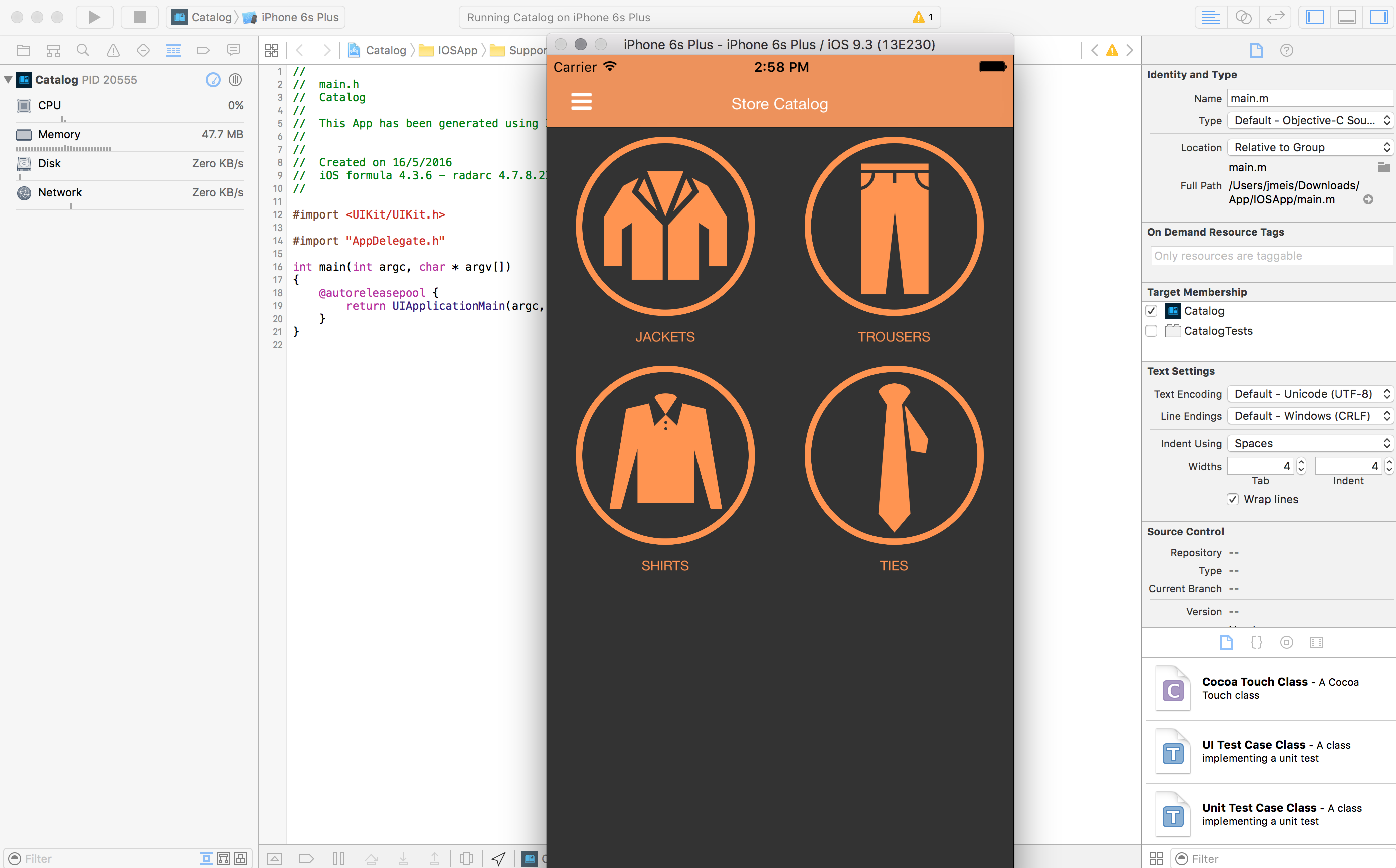 xcode for mobile application preview