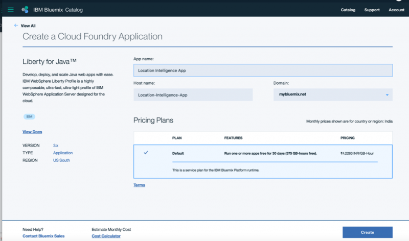 Create Cloud Foundry App - Give your app a name