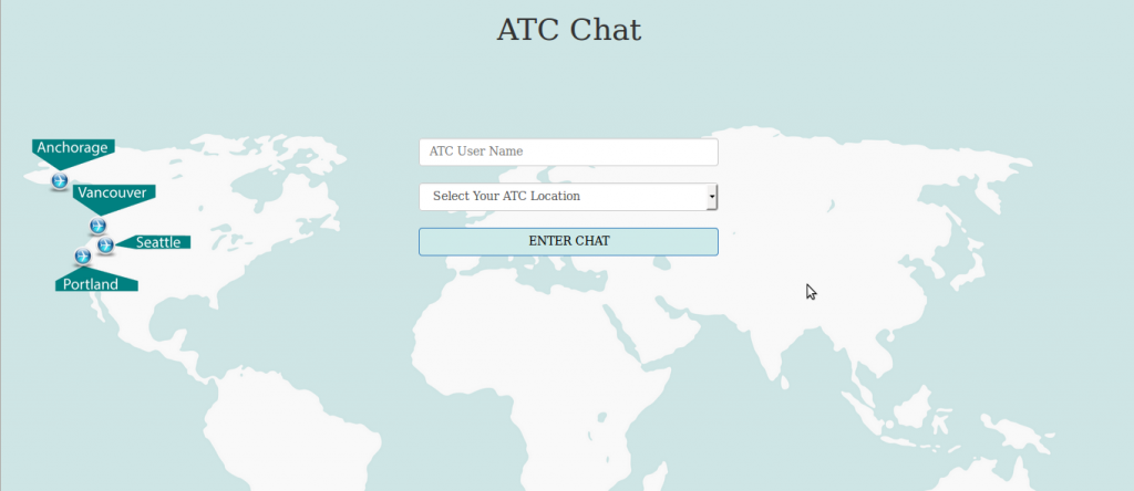 Screen shot of the ATC map