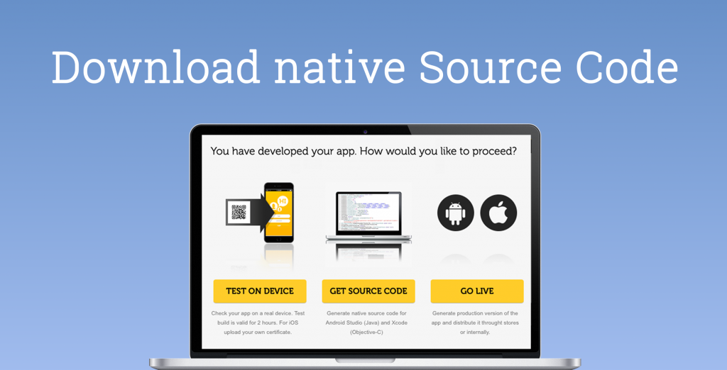 Kinetise: Download native Source Code