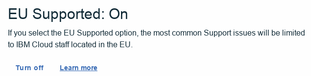 EU Supported is switched ON