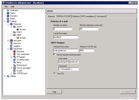 How to enable IBM SmartCloud Entry for email notifications