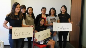 hackathon girls in tech los angeles sign