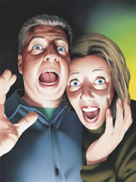 scared couple