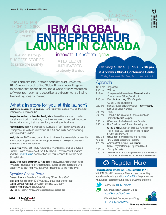 IBM Global Entrepreneur Launch