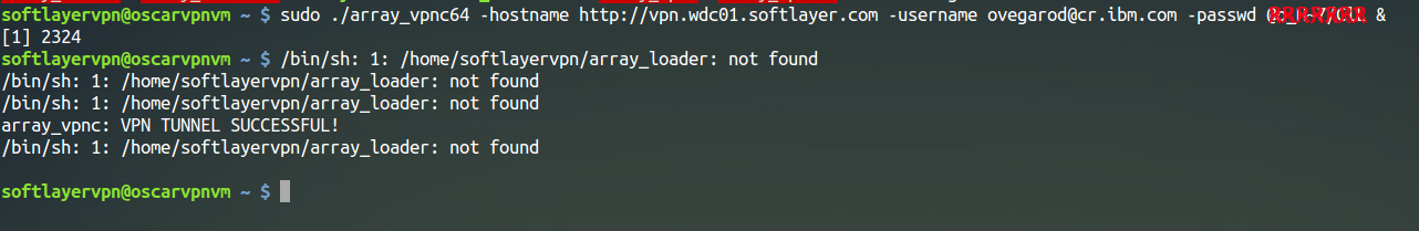 IBM SoftLayer VPN solution for Linux command-line interface
