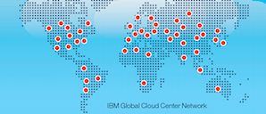 IBM Cloud data center map