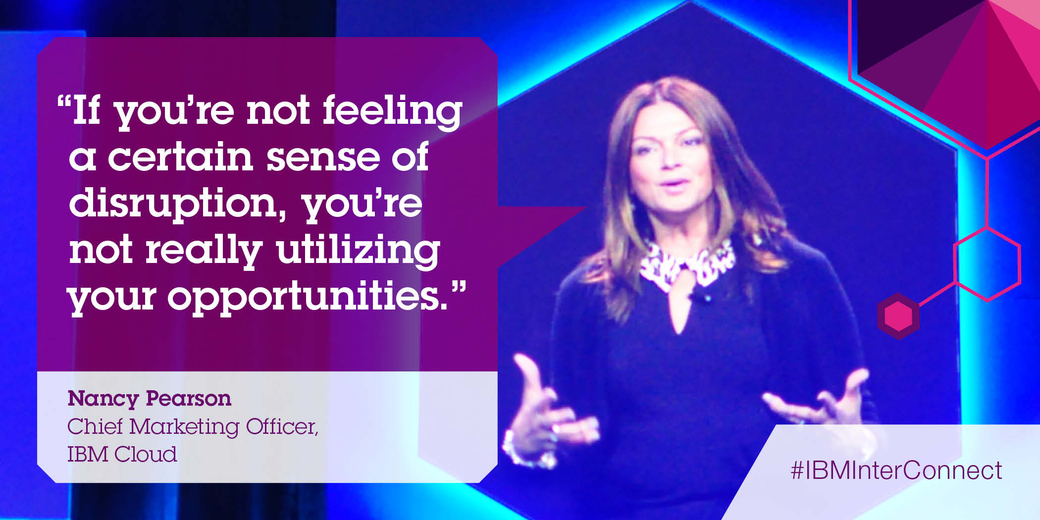 Nancy Pearson delivers a keynote address at IBM InterConnect 2015