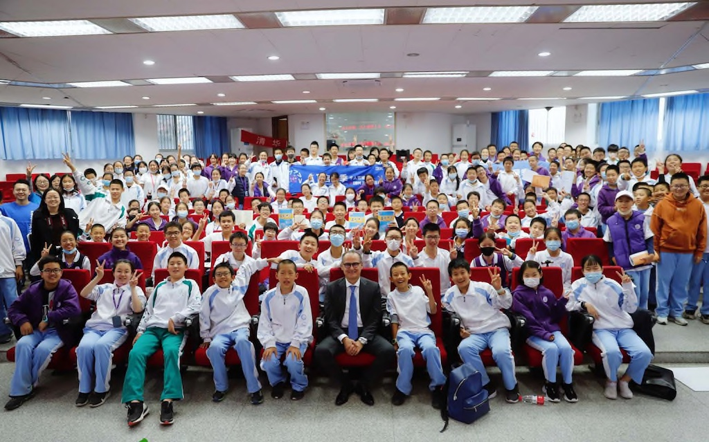 Class of students in China