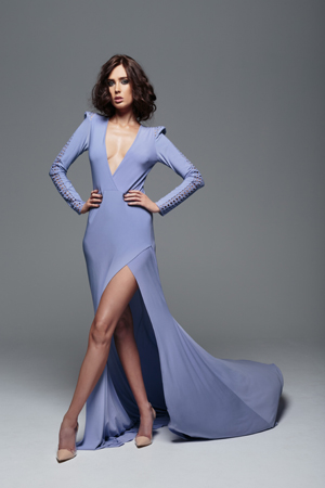 Model wearing Cognitve Couture by Jason Grech