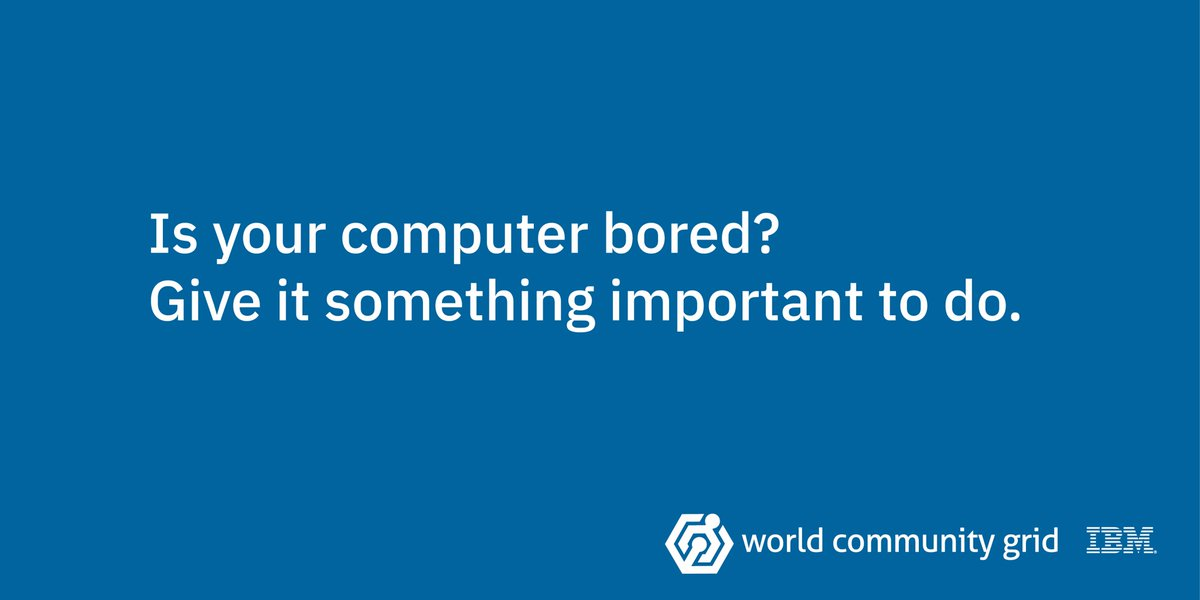 Is your computer bored? Give it something important to do