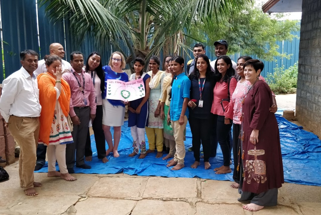 Spending time with the team at Sparsha Trust, Bangalore