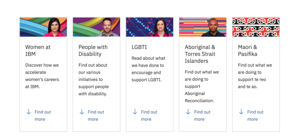 Image link to IBM's Diversity & Inclusion page