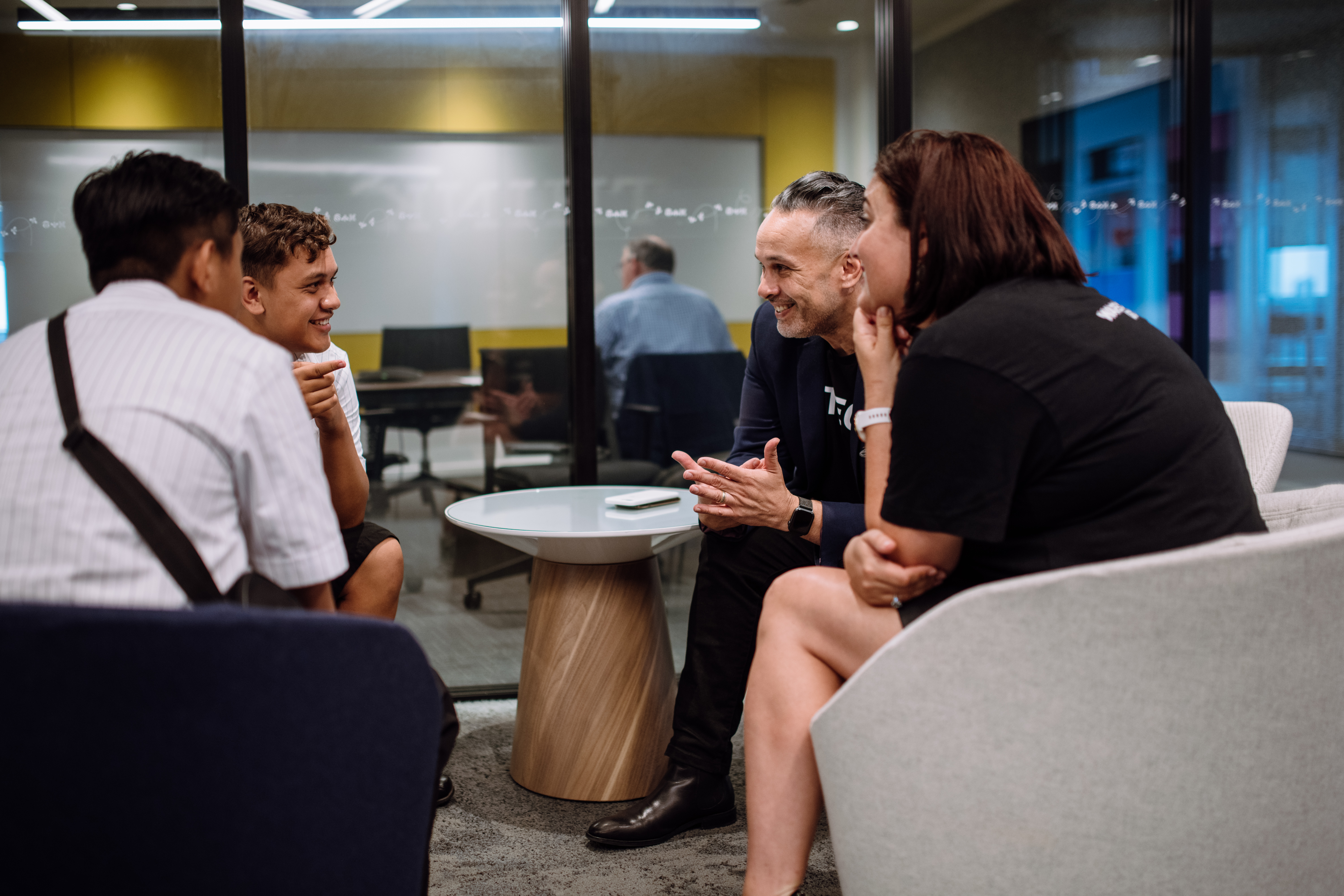 Pre-Lockdown, P-TECH Mentoring on Orientation Day, February 2020, IBM Auckland