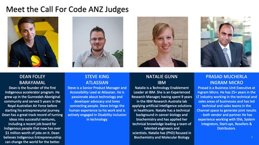 Call for code Judges