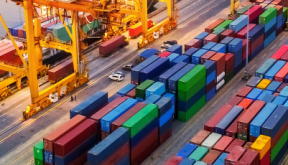 Image of shipping dock containers
