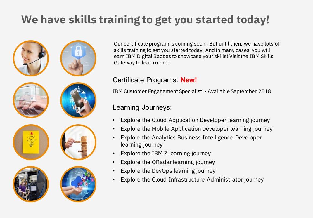 The Ibm New Collar Certificate Program Ibm Training And Skills Blog