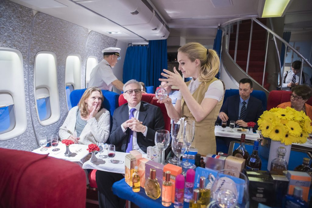 The Pan Am Experience is a retro airline-themed fine-dining event. Image via Air Hollywood.