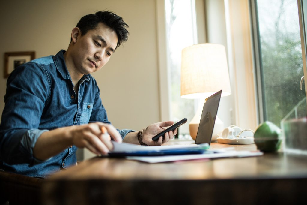 Insurance claims adjustor working from home