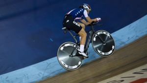 team usa cyclist on track