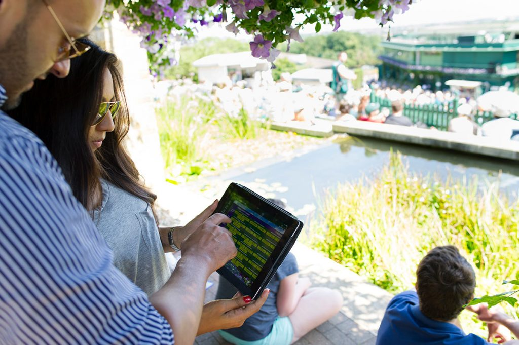 wimbledon tennis fans enjoy using an app
