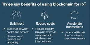 Figure 1:Three key benefits of using blockchain for IoT