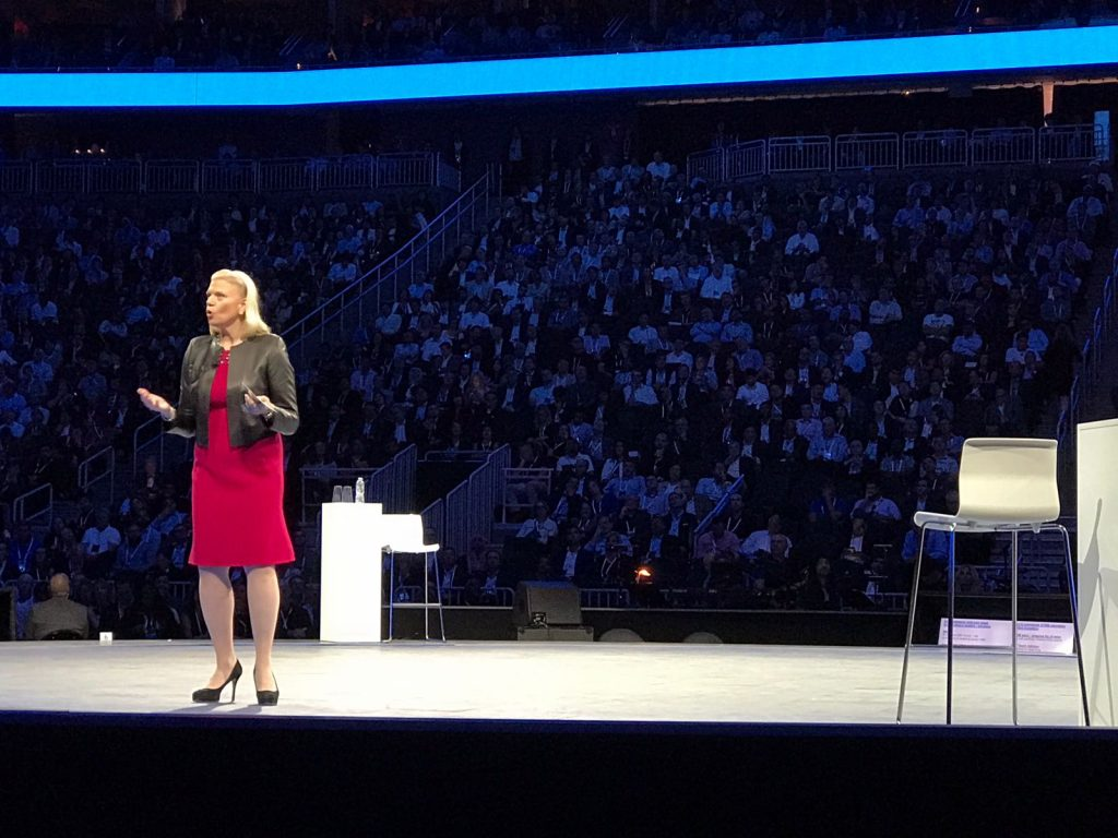 Ginni rometty talks about the world with watson