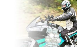 leadspace image of storm electric motorcycle