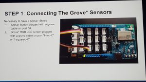 Step 1: connecting the Grove* sensors