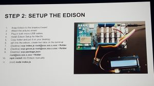Step 2: set up the Edison