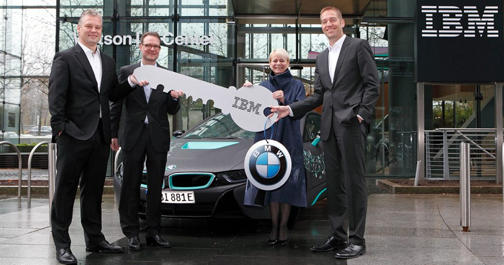 image of i8 automobile as IBM welcomes BMW to the Watson IoT Center in Munich to research cognitive vehicles