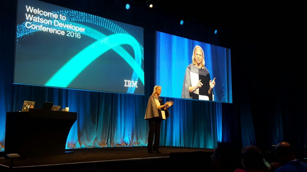 Ginni Rometty at Watson Developer Conference