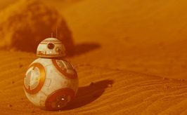 leadspace image of a bb8 droid from the star wars movie