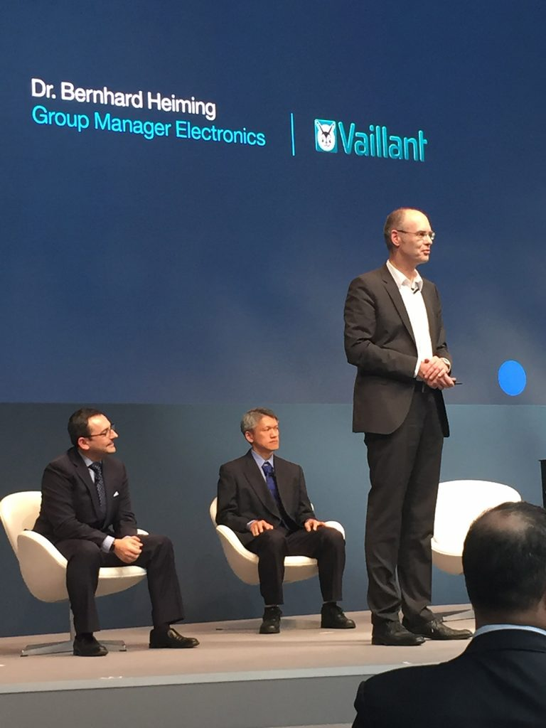 Bernhard Heiming from Vaillant speaks at IBM Watson IoT's Genius of Things event