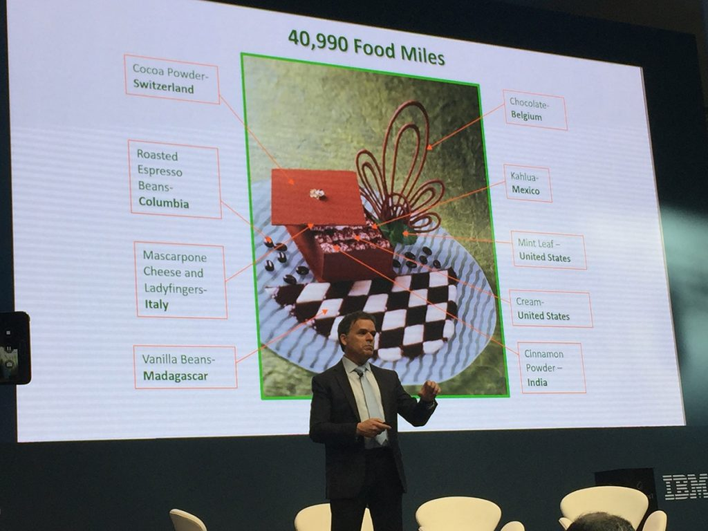 Frank Yiannis from Walmart explains blockchain for food supply networks at IBM Watson IoT's Genius of Things event