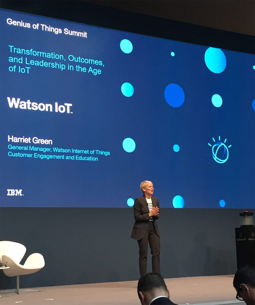 Harriet Green opens the Watson IoT Genius of Things event