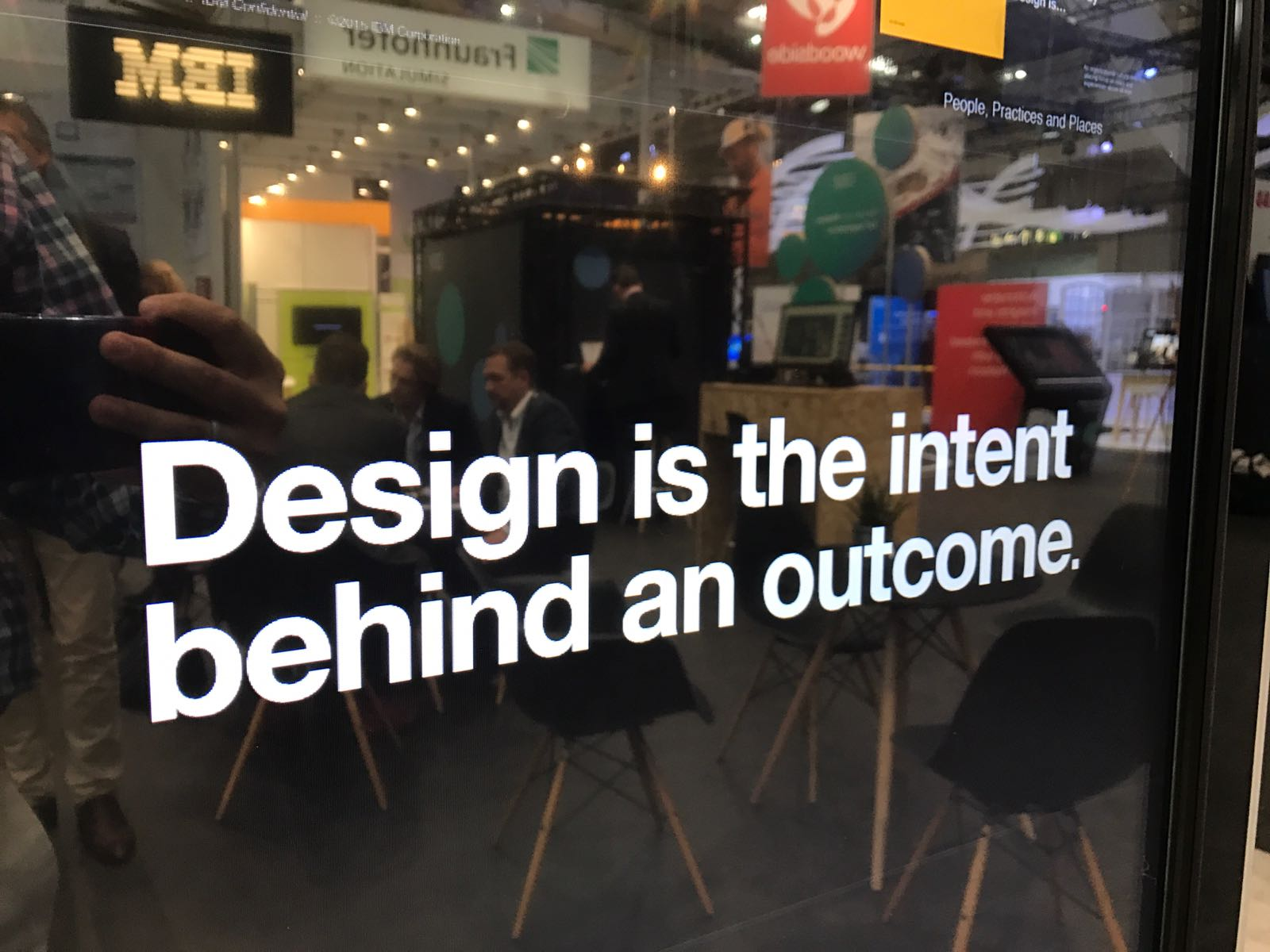 Design is the intent behind the outcome as seen at the IBM Hannover Messe booth