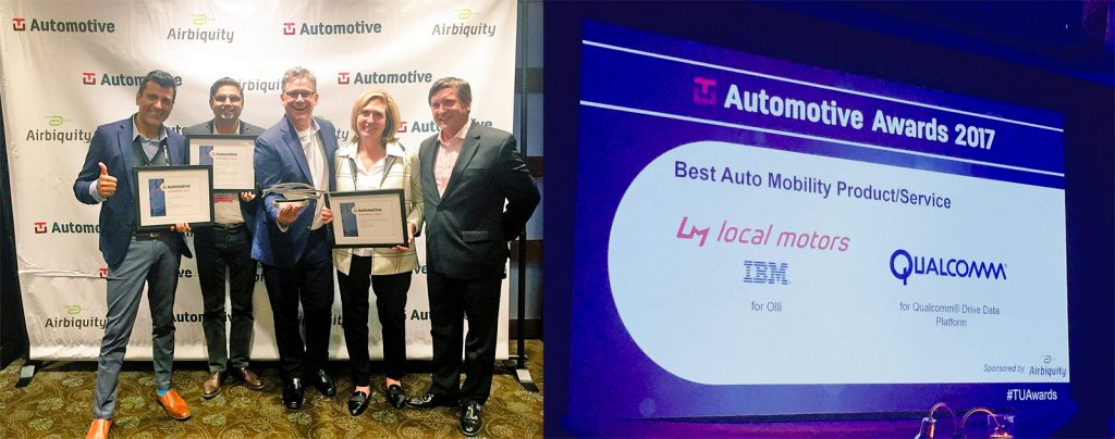 TU Automotive award winners Olli Local Motors and IBM Watson IoT