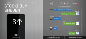 Real-time conversation with an elevator in France, just one of KONE's machine conversations.