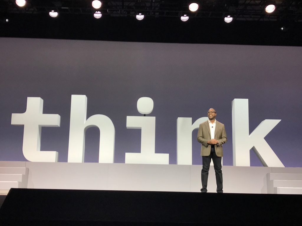 Watson GM, Kareem Yusuf, gave the keynote speech at Think 2018