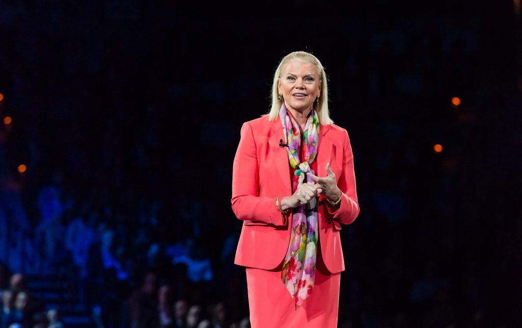 Ginni Rometty started the day off with the Chairman's address at Think 2018