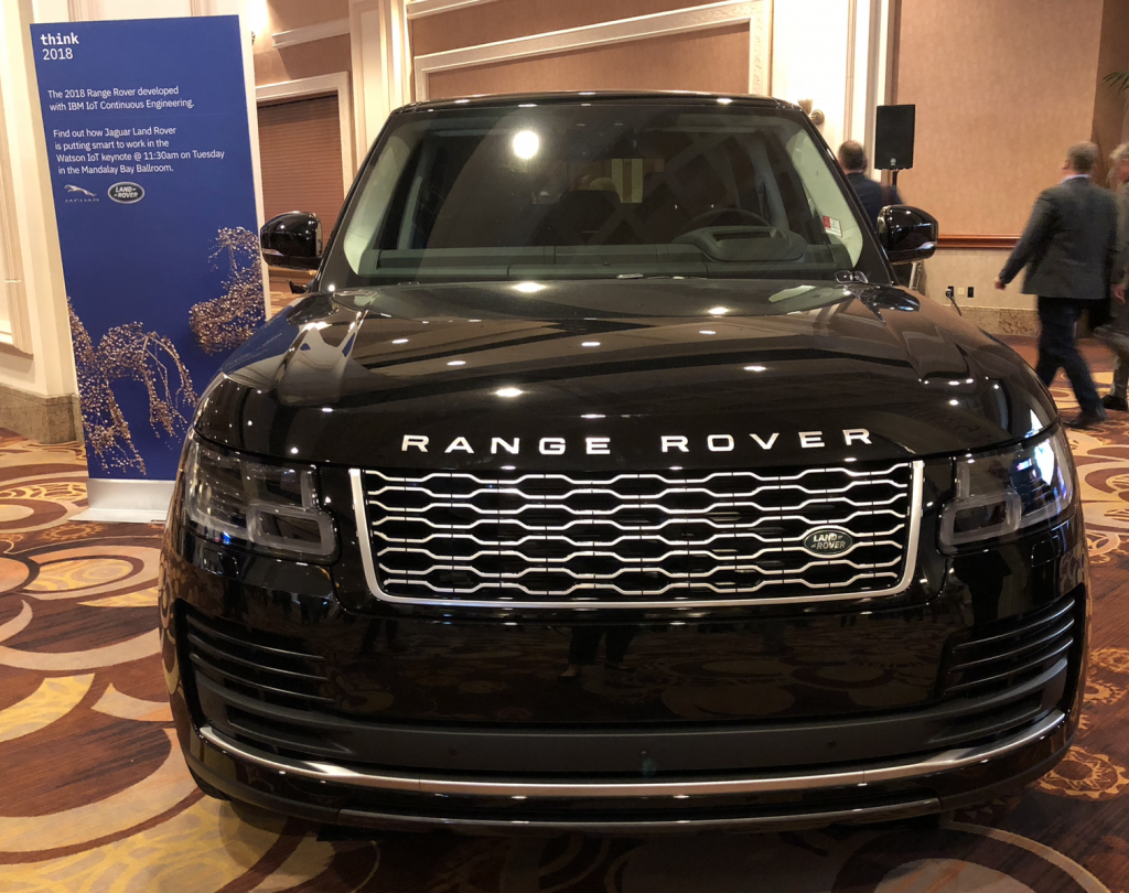 A Land Rover Experience will be part of the giveaway during tomorrow's keynote with Watson IoT GM Kareem Yusuf