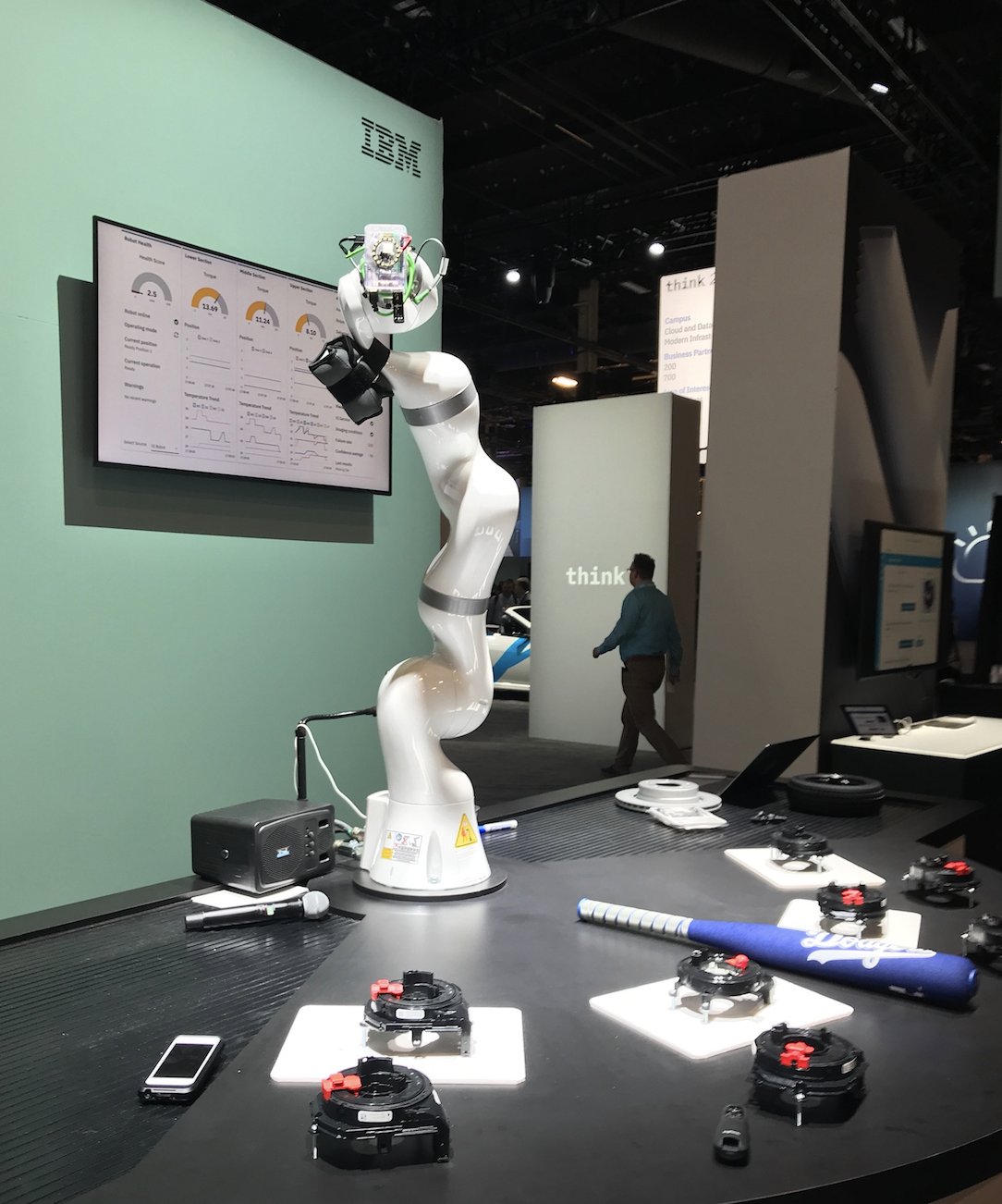 The robot arm in action at the Business and AI campus of Think 2018  - Screen Shot 2018 03 21 at 3 - Maximo and IoT turns your data into insights and innovation